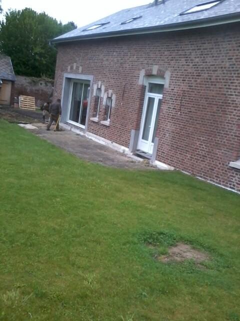 Vue de la terrasse avant les travaux